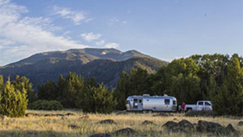Airstream dispersed camping in Montana