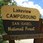 Lakeview campground san isabel nf