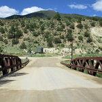Railroad bridge campground