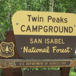 Twin peaks campground san isabel nf