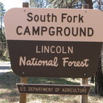 South fork campground lincoln nf
