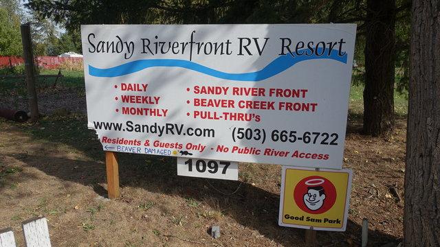 Sandy riverfront rv resort