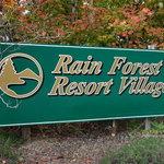 Rain forest resort village