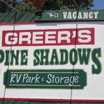Greers pine shadows rv park