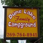 Dune family lake campground