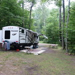 Log cabin resort and campground