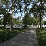 Covered wagon camp resort