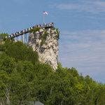 Castle rock lakefront mackinac trail campark