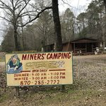 Miners camping and rock shop