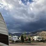 Mountain views at riversedge rv resort