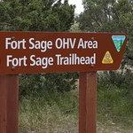 Fort sage trailhead campsite