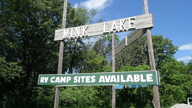 Mink lake campground
