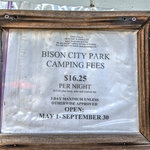 Bison city park campground