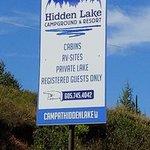 Hidden lake campground resort