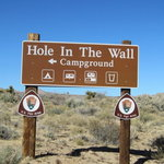 Hole in the wall campground mojave