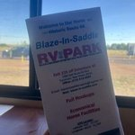 Blaze in saddle rv park