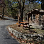 Creekside mountain camping