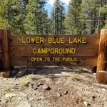 Lower blue lake campground