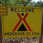 Anderson lake hartwell koa