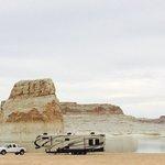Lone rock beach