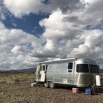 Blue cloud camping area