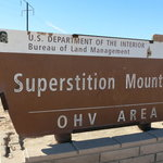 Superstition mountain ohv open area
