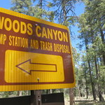 Woods canyon dump station