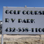 Crane county golf course rv park