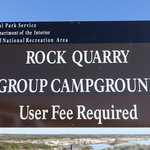 Rock quarry group campground