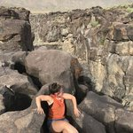 Fossil falls dry lake bed