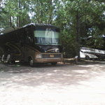 Hitchin post corral campground