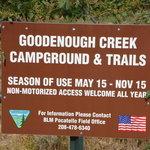 Goodenough creek campground