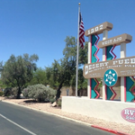 Desert pueblo mobile home rv park