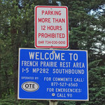 French prairie rest area southbound