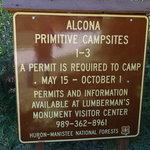 Alcona primitive campsites 1 3