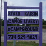 River raisin canoe livery campground