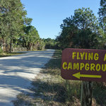 Flying a campground
