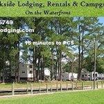 Creekside lodging rentals campground