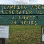 Mustang grade camping area