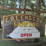 Creekside camping