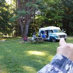 Hicks run camping area