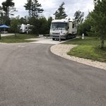 Manistique lakeshore campground