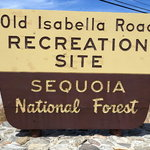 Old isabella road recreation site