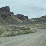 White mountain road dispersed