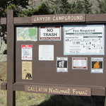 Canyon campground gallatin nf