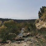 Travertine hot springs dispersed