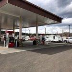 Giant gas station flagstaff