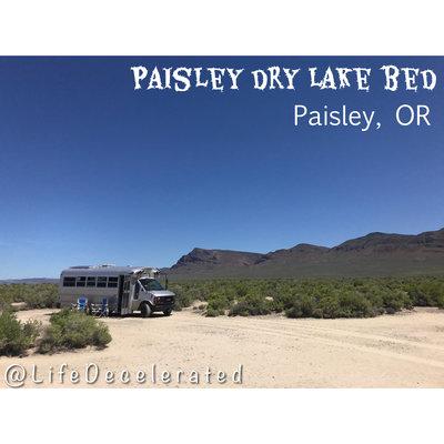 Paisley dry lake bed