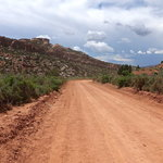 Blue mountain road utah