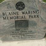 Blaine waring memorial park